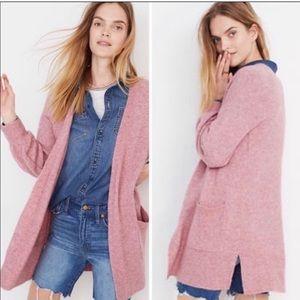 Madewell Edgewater Bubble Sleeve Wool Cardigan